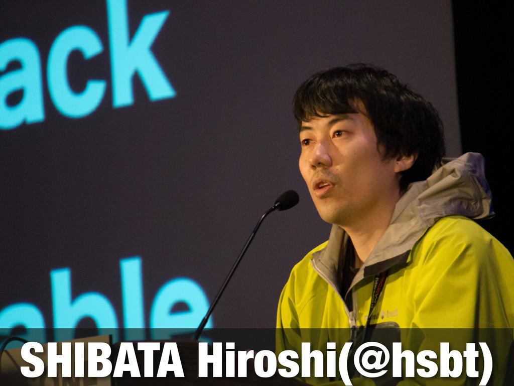 SHIBATA Hiroshi(@hsbt)