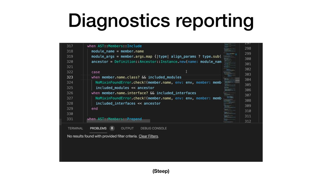 Diagnostics reporting (Steep)