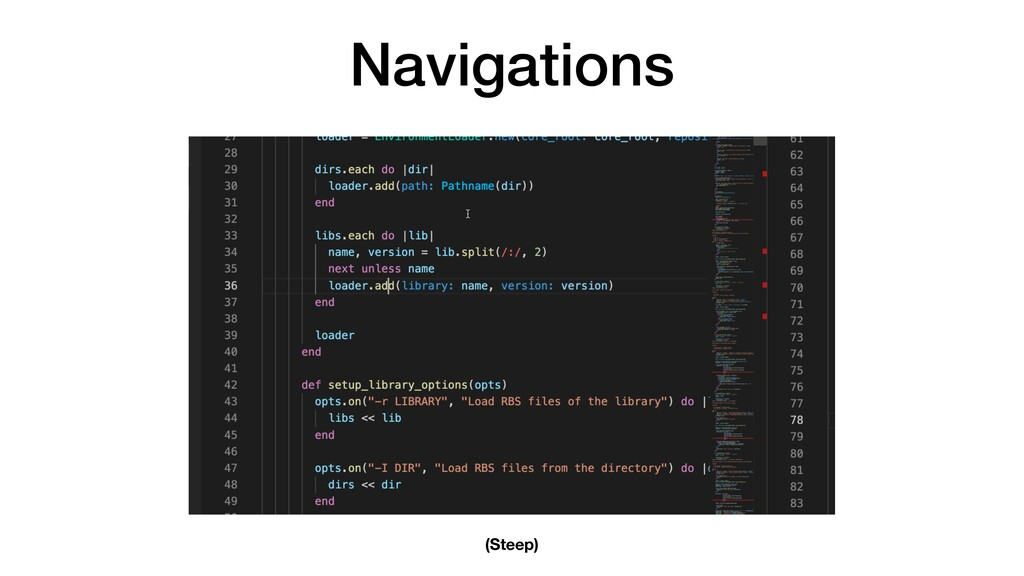 Navigations (Steep)