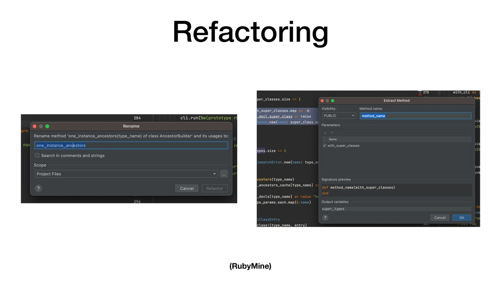 Refactoring (RubyMine)