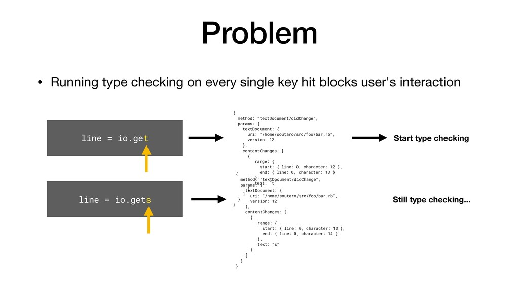 Problem • Running type checking on every single...