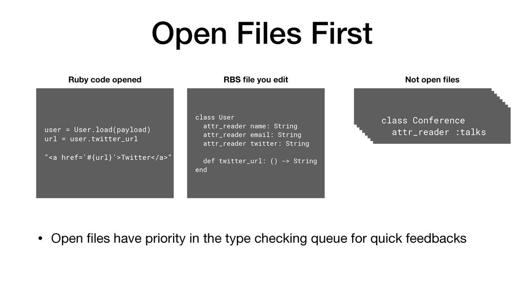 Open Files First • Open files have priority in t...