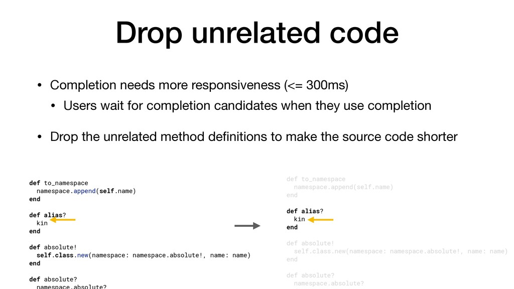 Drop unrelated code • Completion needs more res...