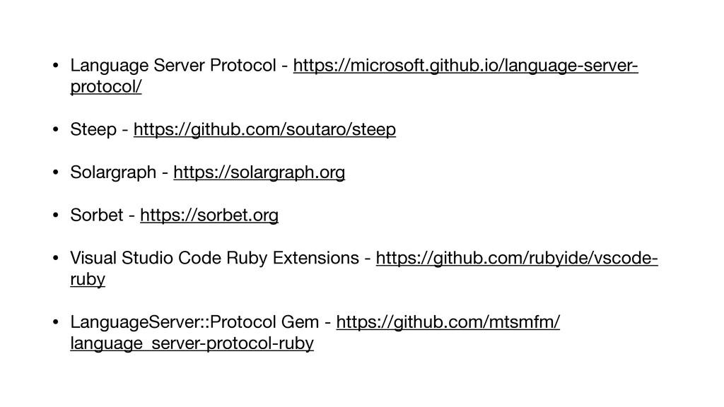 • Language Server Protocol - https://microsoft....