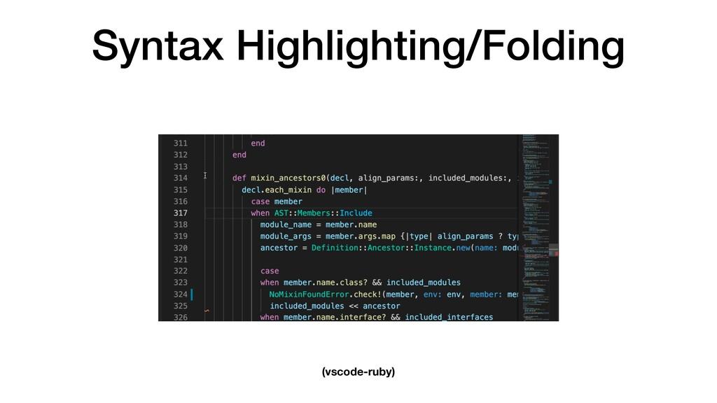 Syntax Highlighting/Folding (vscode-ruby)