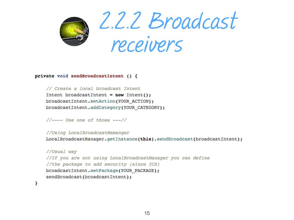 2.2.2 Broadcast receivers 15