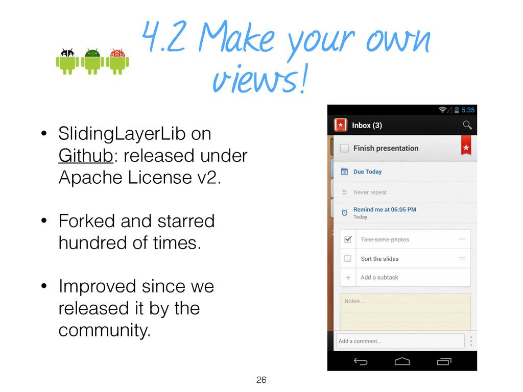 4.2 Make your own views! • SlidingLayerLib on G...