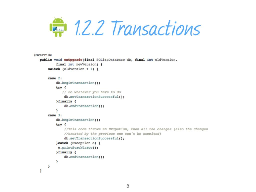 1.2.2 Transactions 8
