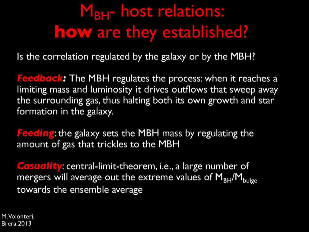 MBH - host relations: how are they established?...