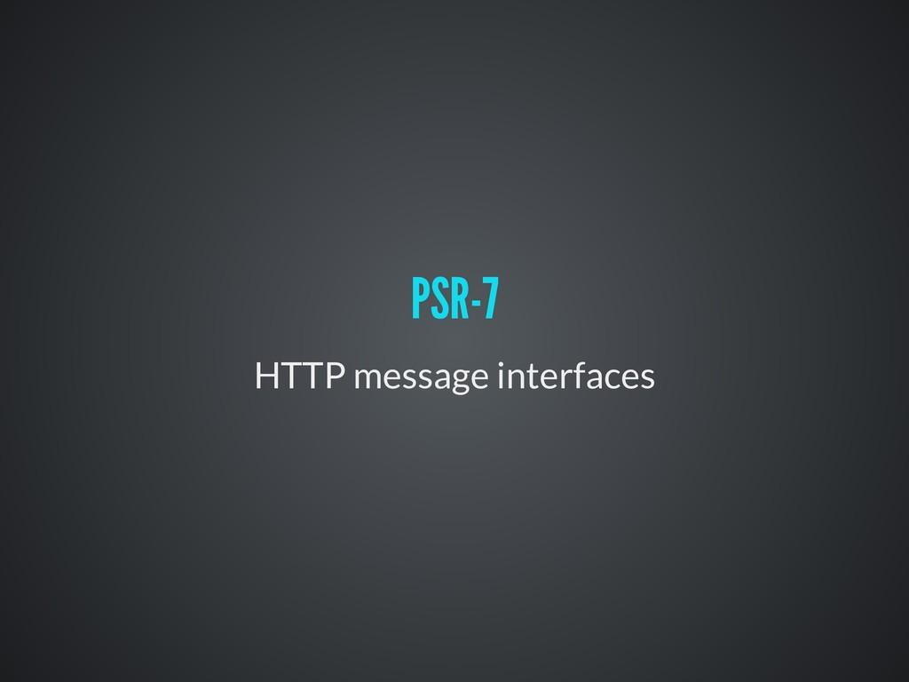 HTTP message interfaces PSR-7