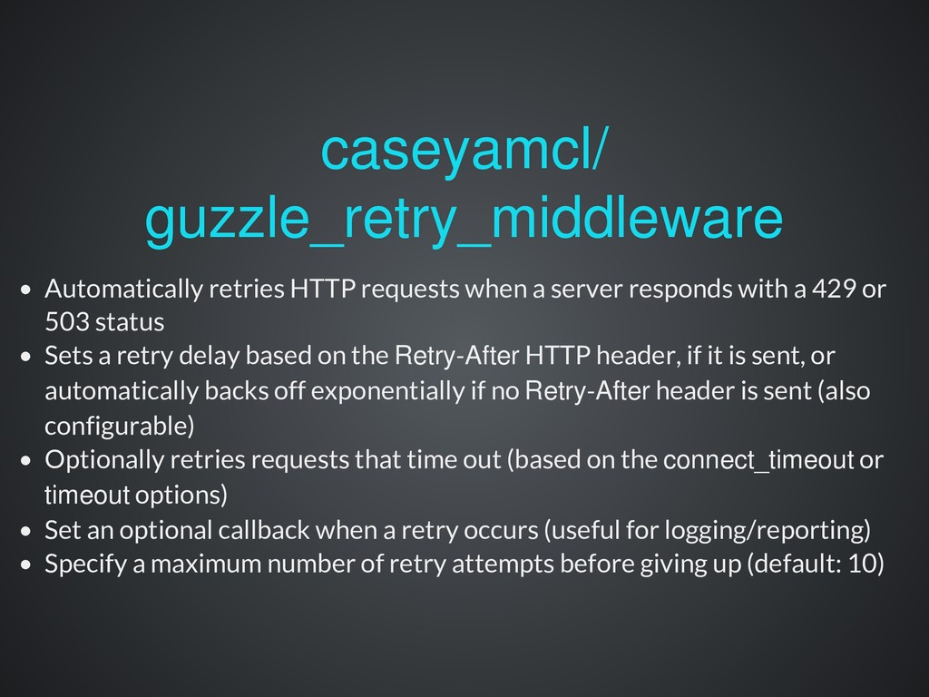 Automatically retries HTTP requests when a serv...