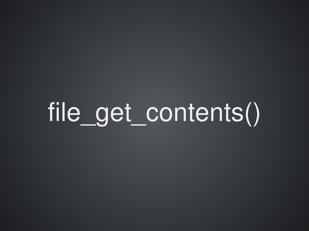 file_get_contents()