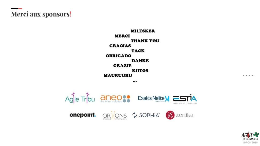 IPPON 2019 Merci aux sponsors!