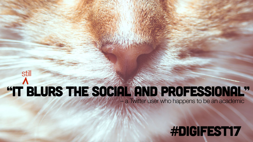 """""""It blurs the social and professional"""" – a Twit..."""