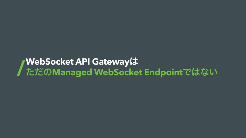 WebSocket API Gateway ͨͩͷManaged WebSocket End...