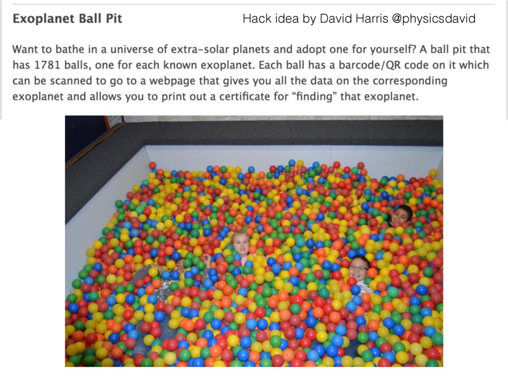 Hack idea by David Harris @physicsdavid