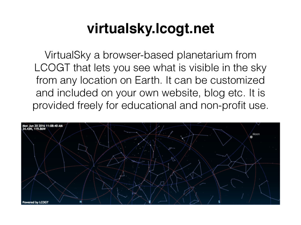 virtualsky.lcogt.net VirtualSky a browser-based...