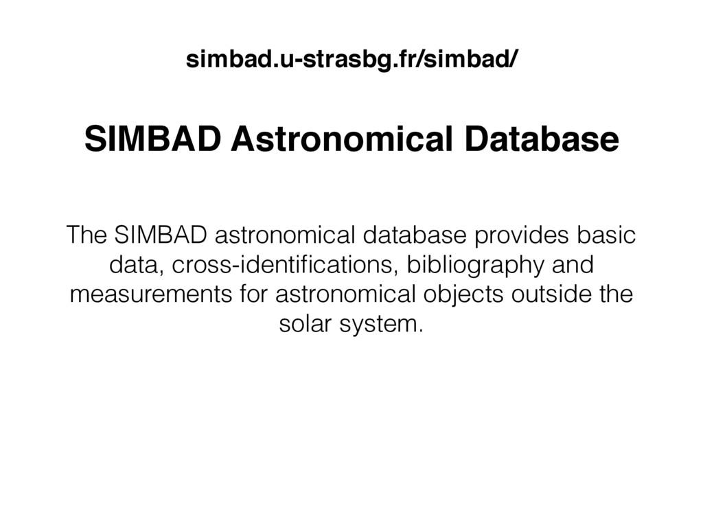SIMBAD Astronomical Database lookUP widget jinj...
