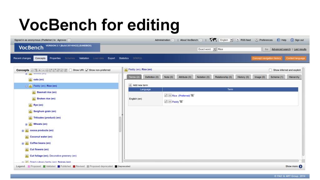 VocBench for editing