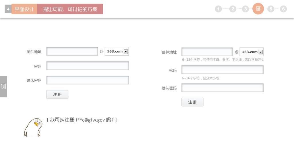 1 5 6 2 3 4 注 册 邮件地址 密码 确认密码 @ 163.com 注 册 密码 确...