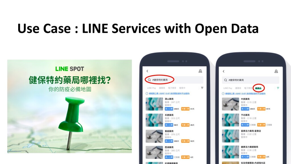 Use Case : LINE Services with Open Data
