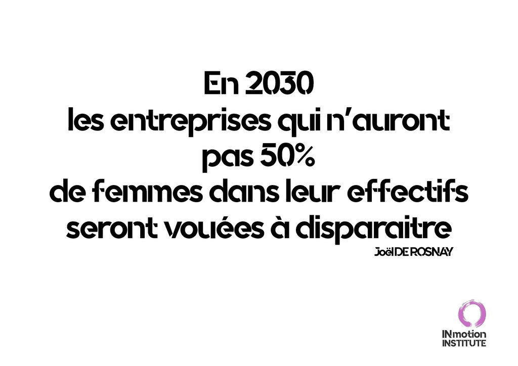 En 2030 les entreprises qui n'auront pas 50% de...