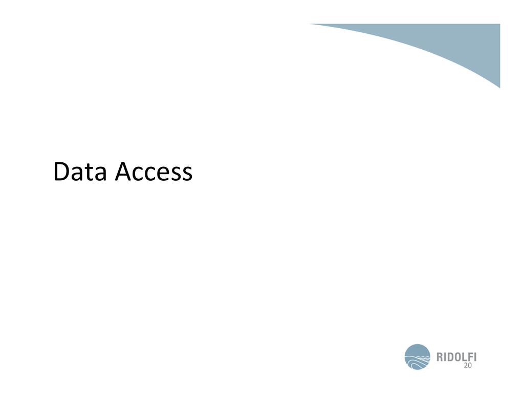 Data Access  20