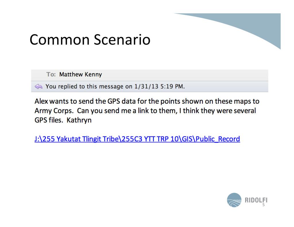 Common Scenario  5