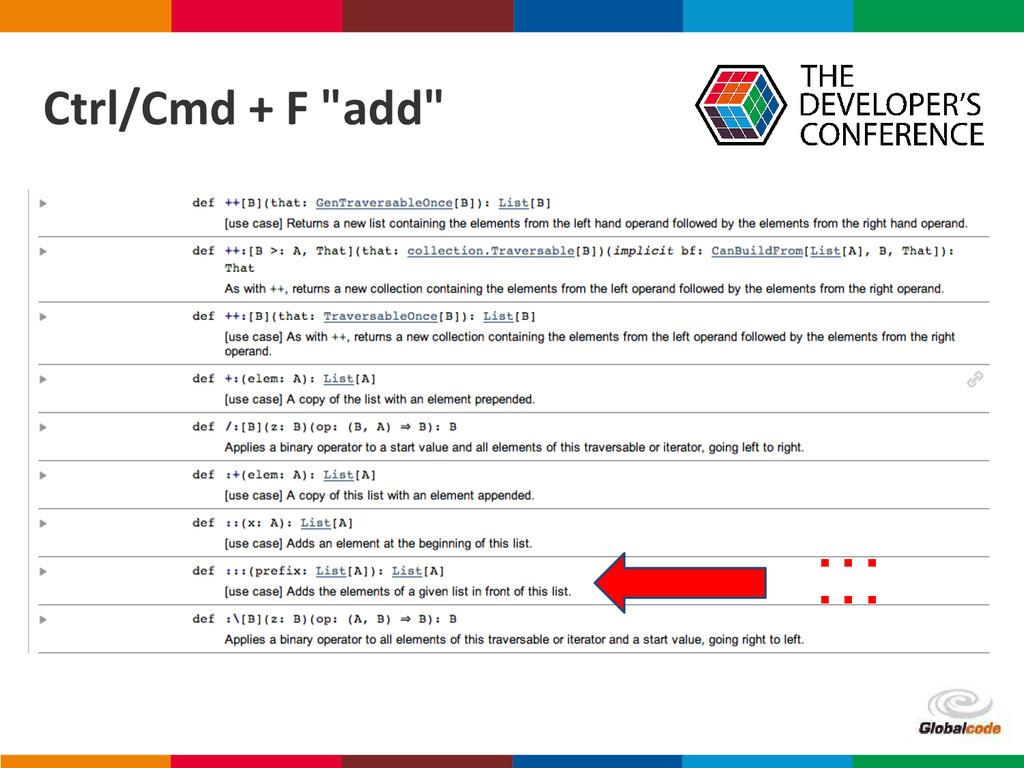 "Globalcode – Open4education Ctrl/Cmd + F ""add"" ..."