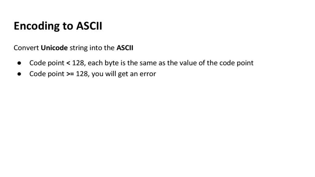 Encoding to ASCII Convert Unicode string into t...
