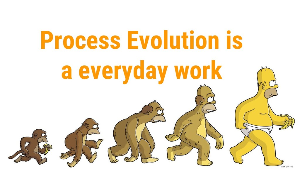 Process Evolution is a everyday work