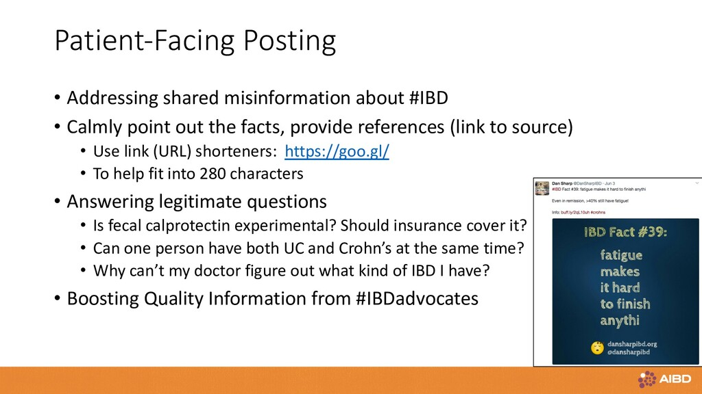 Patient-Facing Posting • Addressing shared misi...
