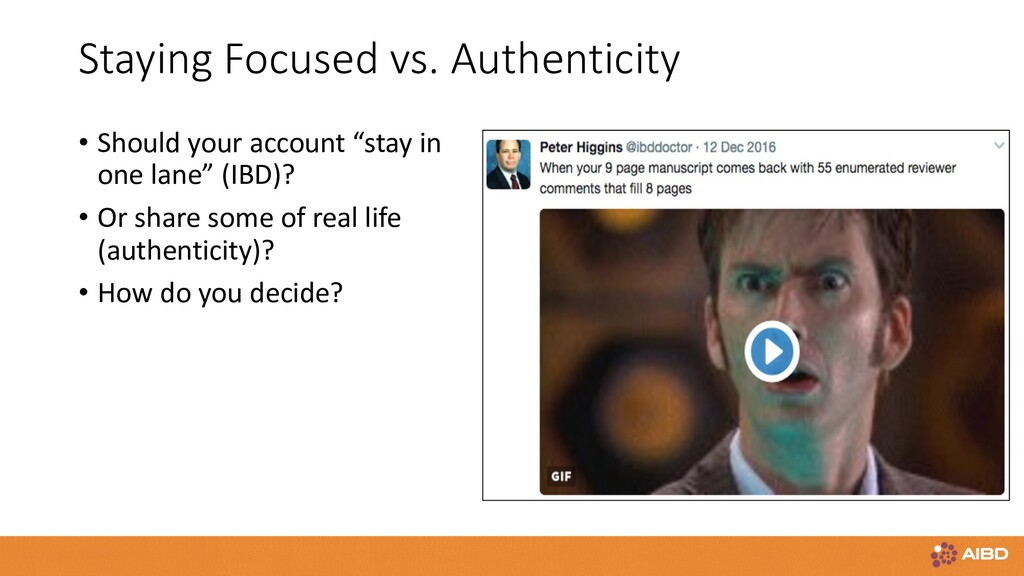 Staying Focused vs. Authenticity • Should your ...