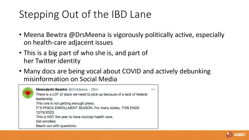 Stepping Out of the IBD Lane • Meena Bewtra @Dr...
