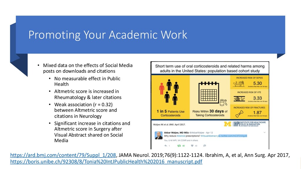 Promoting Your Academic Work • Mixed data on th...