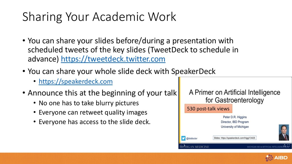 Sharing Your Academic Work • You can share your...