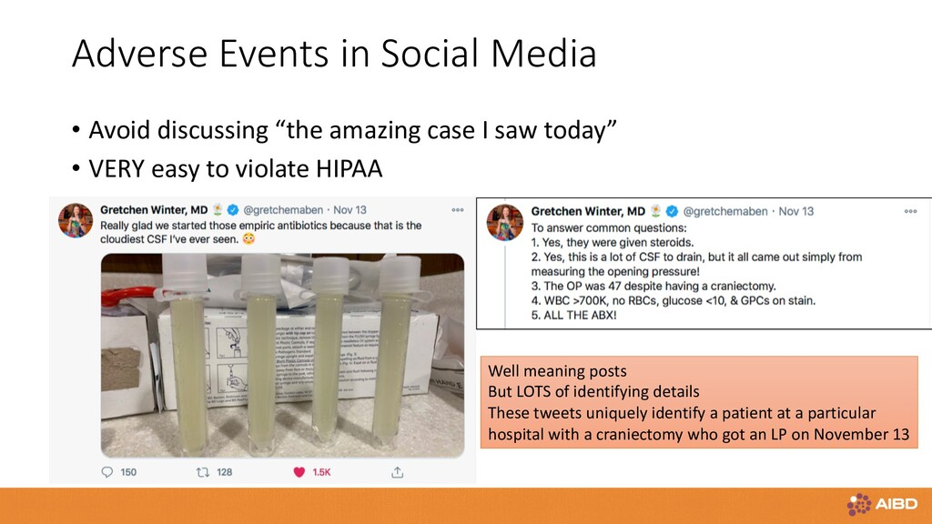 Adverse Events in Social Media • Avoid discussi...