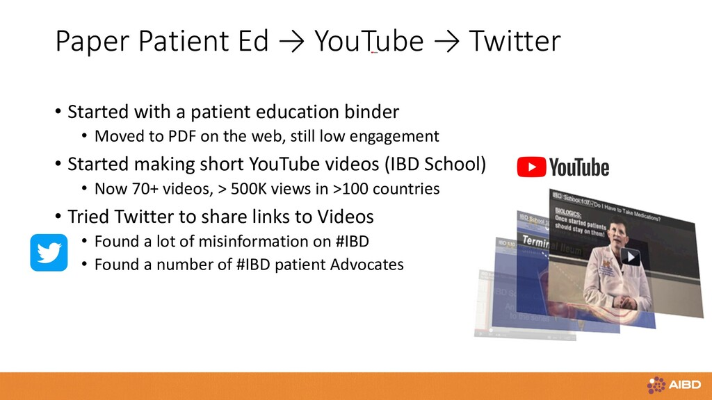 Paper Patient Ed → YouTube → Twitter • Started ...