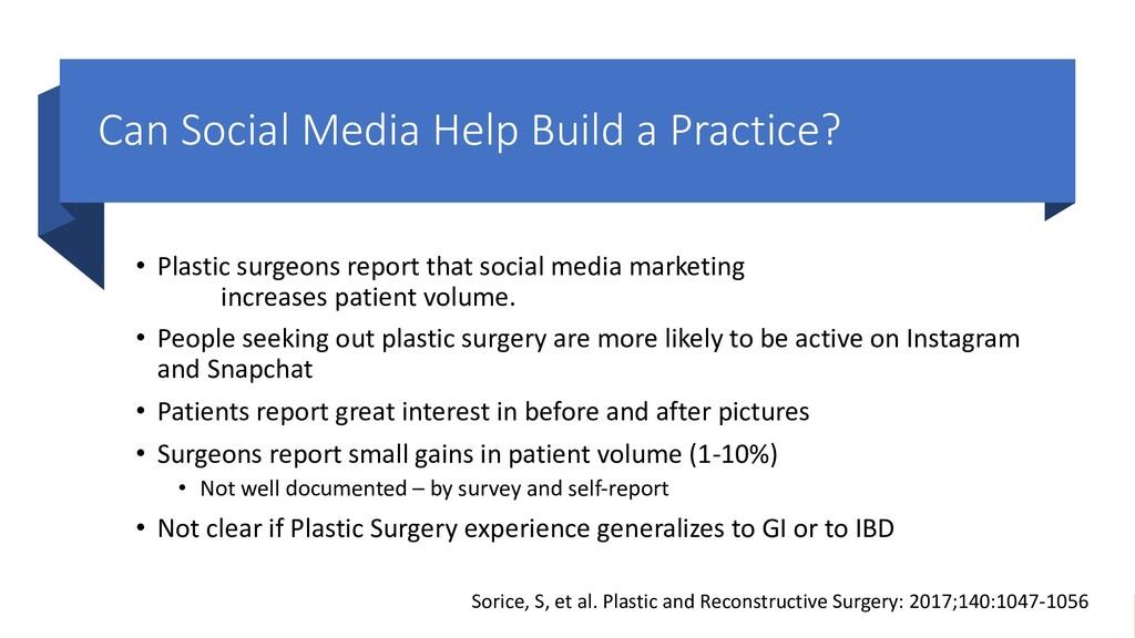 Can Social Media Help Build a Practice? • Plast...