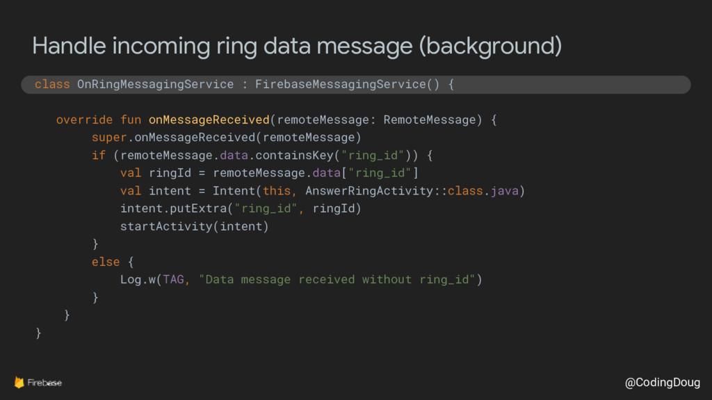 @CodingDoug Handle incoming ring data message (...