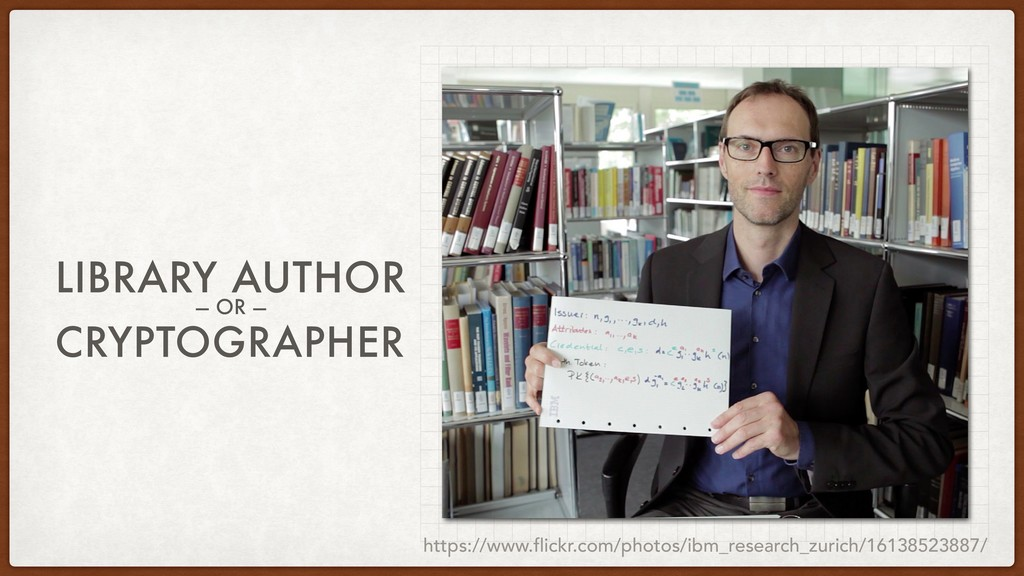 LIBRARY AUTHOR — OR — CRYPTOGRAPHER https://www...