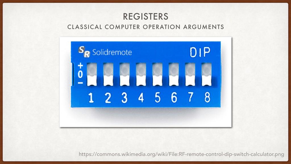 CLASSICAL COMPUTER OPERATION ARGUMENTS REGISTER...