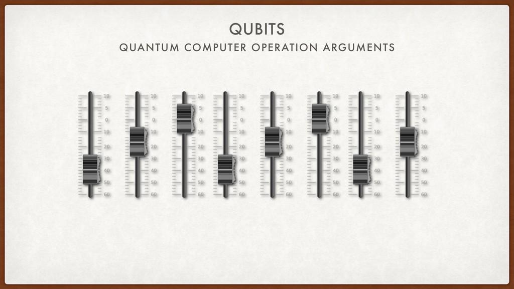 QUANTUM COMPUTER OPERATION ARGUMENTS QUBITS