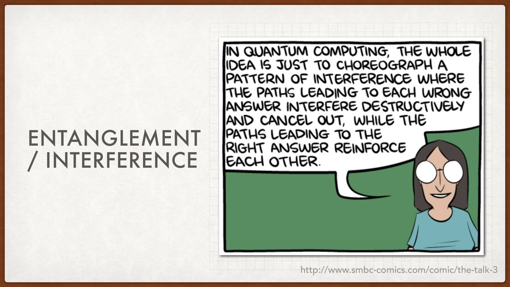 ENTANGLEMENT / INTERFERENCE http://www.smbc-com...