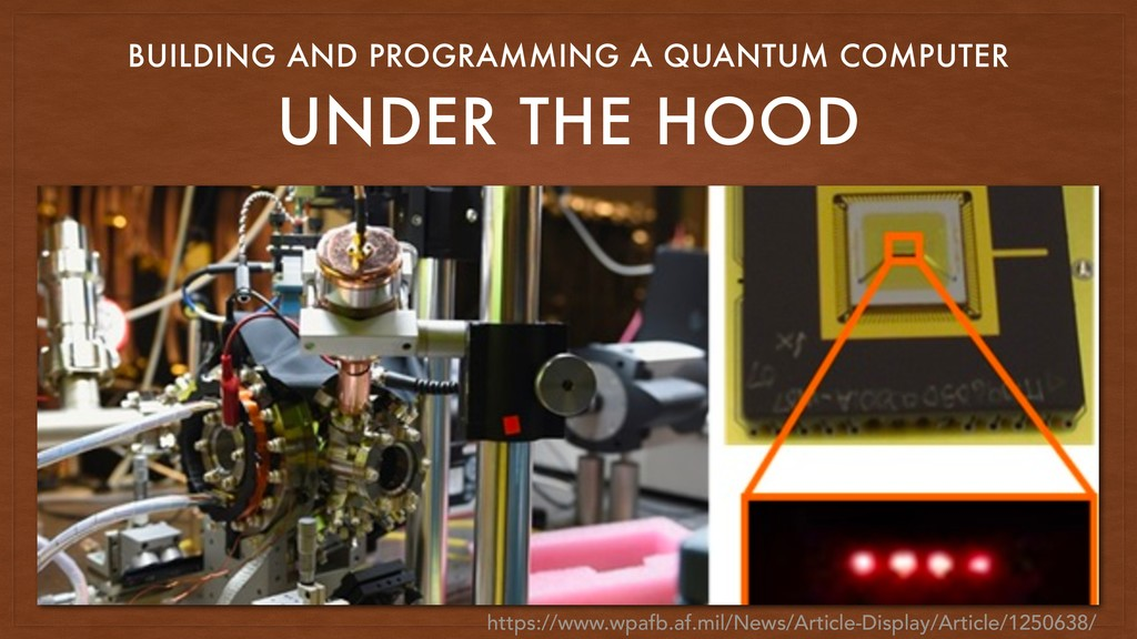 UNDER THE HOOD BUILDING AND PROGRAMMING A QUANT...