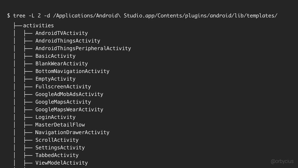 $ tree -L 2 -d /Applications/Android\ Studio.ap...