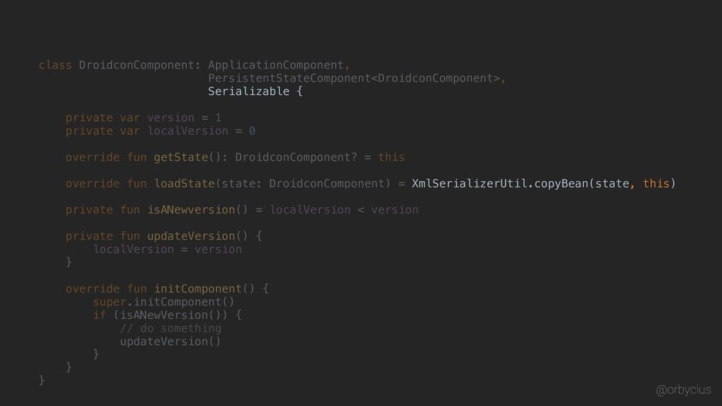 class DroidconComponent: ApplicationComponent, ...