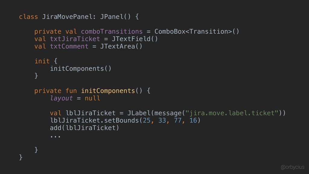 class JiraMovePanel: JPanel() { private val com...