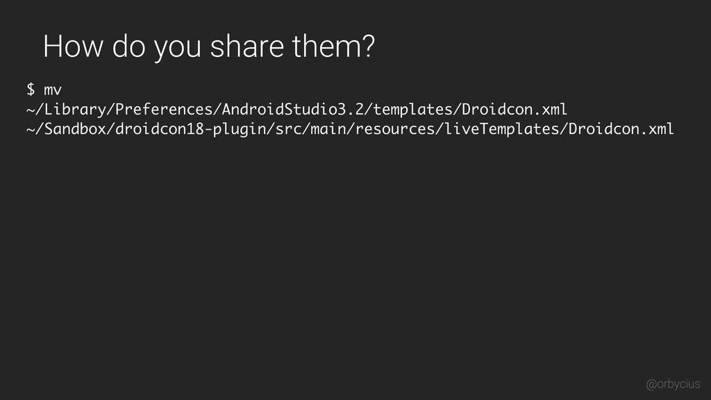 How do you share them? $ mv ~/Library/Preferenc...