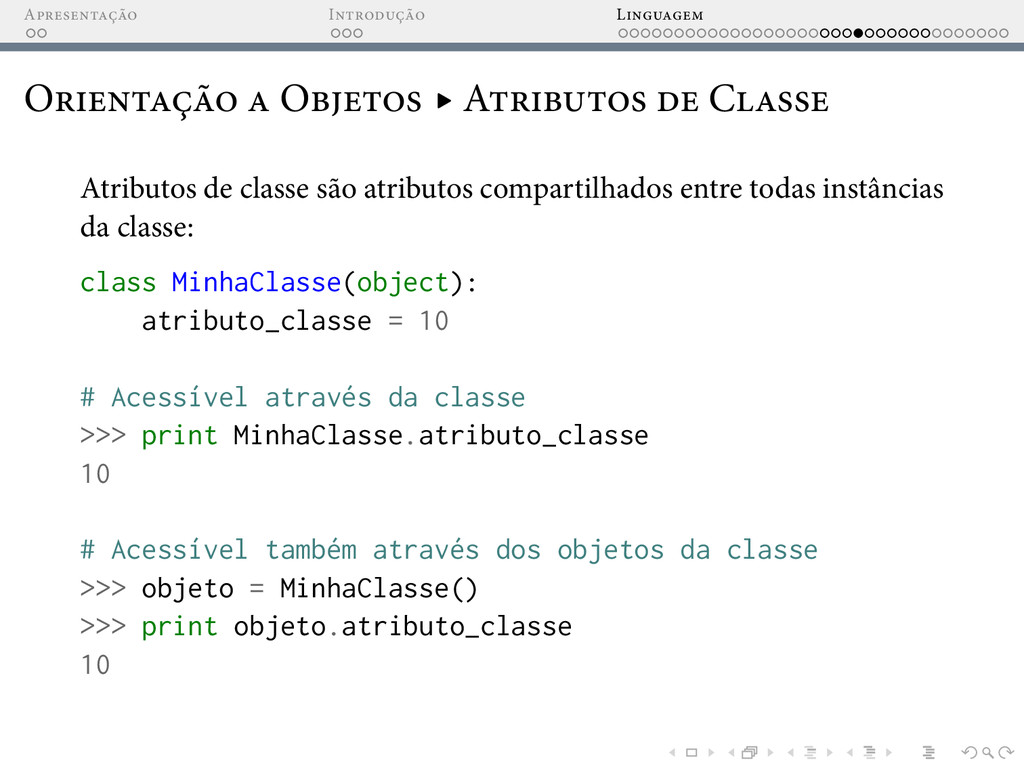 A I L O O ▸ A C Atributos de classe são atribut...